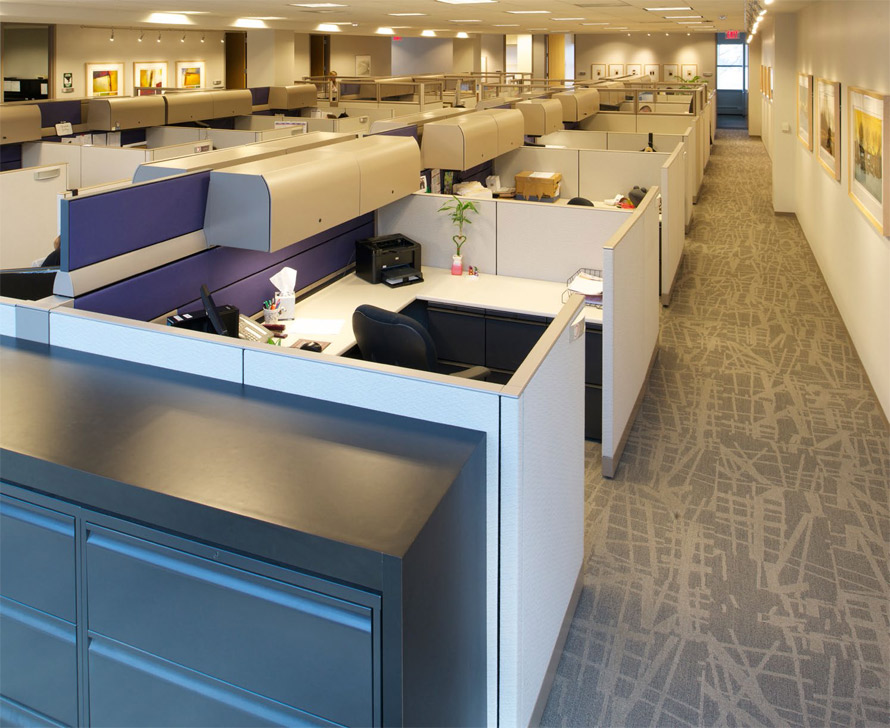 Milliken Carpet Tiles For Office Setting