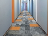 Vertical carpet tiles for hospitality