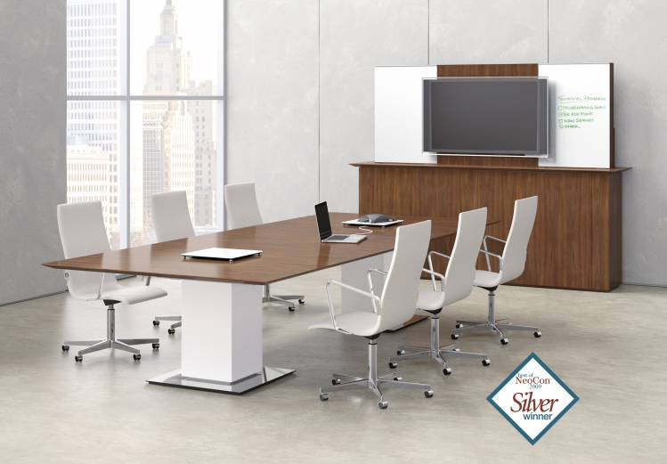 Contemporary rectangular 8 foot conference table Nucraft