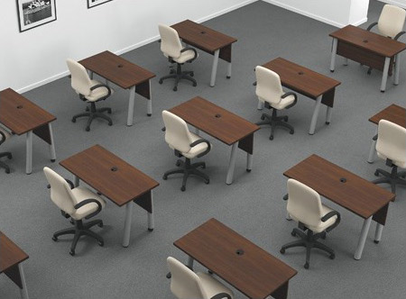 Classroom laminate training tables by Artopex
