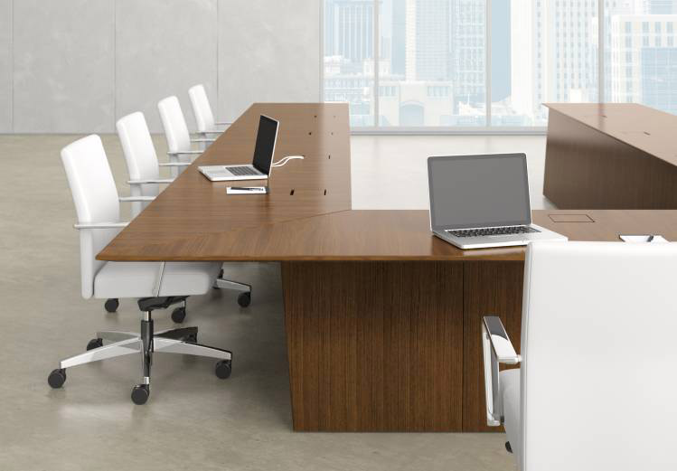 Nucraft Ativa series U-shaped conference table configuration