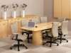 Conference table with buffet credenza - Indiana Furniture Aura Collection