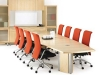 Classic conference table with presentation credenza by Artopex