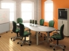 Conference table breakout style with mobile markerboard by ABCO