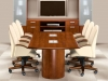Exotic anigre veneer Luxe series 8 ft conference table with furniture Indiana Furniture