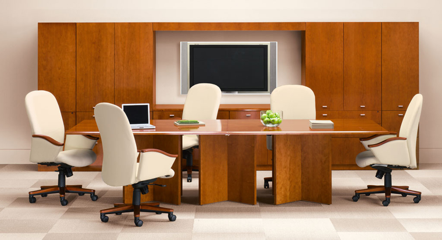 Wood conference office furniture Aura series Indiana Furniture