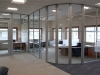 Movable glass walls installation