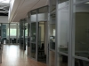 Curved movable office wall glass fronts