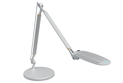 Wave light desk lamp with base and adjustable dim Spaceco