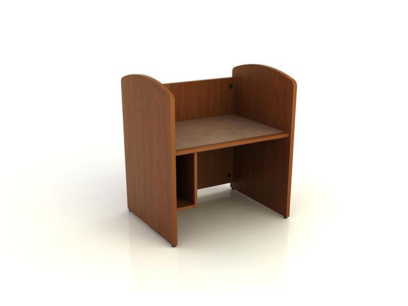 Library study carrel furniture by Colecraft single faced starter with CPU storage