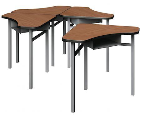 Delta student table modular laminate educational furniture