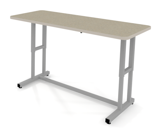 Laminate adjustable height crank table