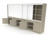 Laminate educational learning wall modular furniture by Fleetwood