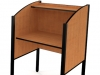 Laminate study carrel with lifetime warranty fleetwood