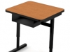 Laminate top metal base single desk with storage - 466 series fleetwood