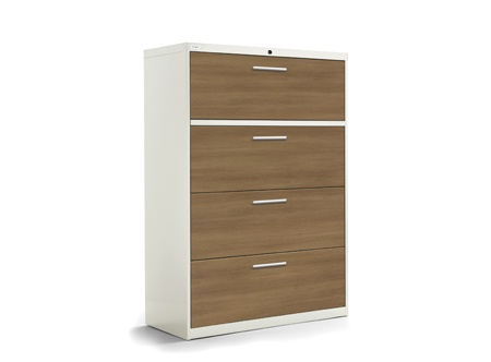 Artopex 4-drawer laminate lateral file Take-Off Series