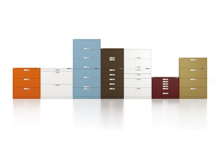 Metal lateral files in many color finish options