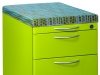Great Openings mobile pedestal storage with fabric top