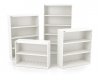 Metal white bookcases 2-High 3-High 4-High 5-High Artopex