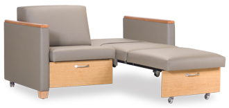 Healthcare waiting room patient room furnishings