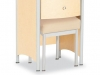 Healthcare Furniture - Joey bedside cabinet and stool - IOA, J-200BSC 1