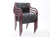 Stackable Lamineer open back wood guest chair Westin Nielsen