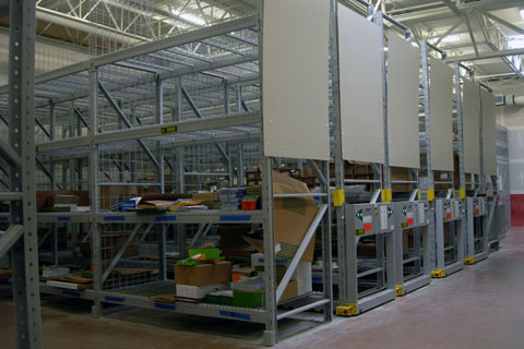 Electrical mobile filing system for large item storage