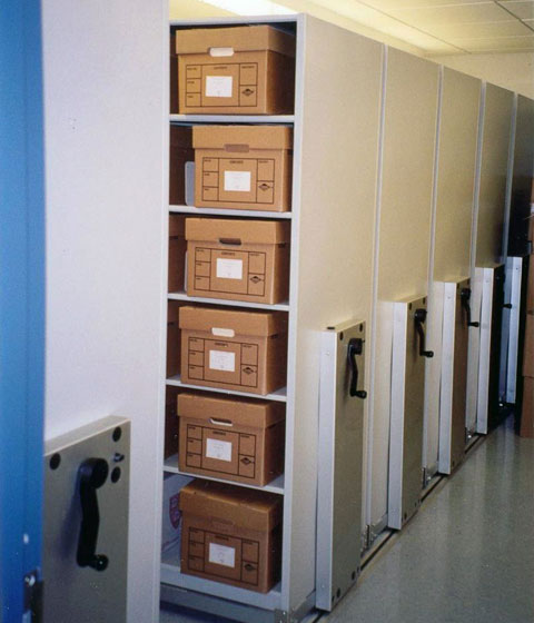 High density mobile storage archive records application