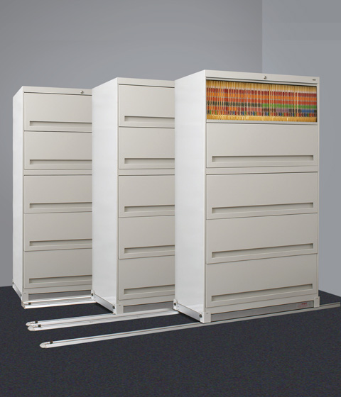 HIPAA lateral system locakable retractable door