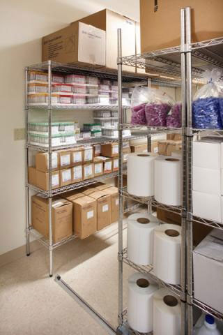 Hotel housekeeping supply storage solution mobile storage system