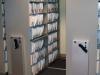 Lockable metal moving filing system