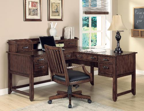 Home Office L Shape Wood Writing Desk