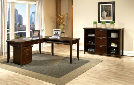 martin furniture wood home office l shaped writing desk