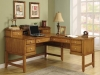 Oak wood home office writing desk DMI
