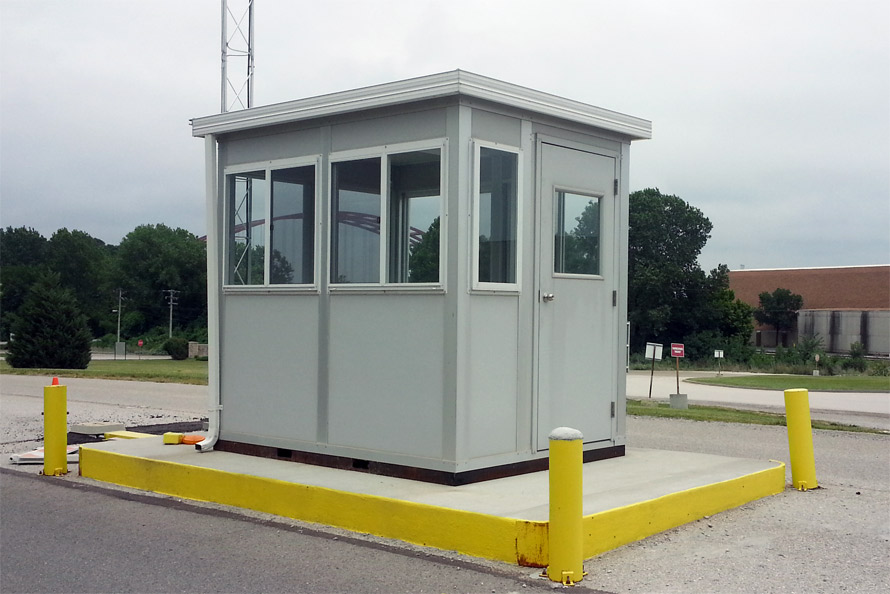 Modular exterior outdoor prebuilt guard office toll booth office