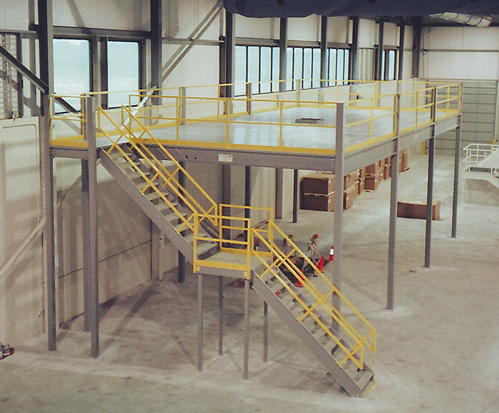 Warehouse factory mezzanine prefabricated steel