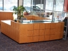 CCM - Custom Modern U-shaped wood reception desk with flat cut maple finish 530