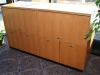 CCM - Custom storage unit with flat cut maple finish 530-2