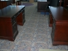 DMI - Cherry wood home office suite includes double pedestal desk and matching credenza