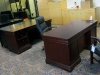 DMI - Elegant wood home office double pedestal desk and credenza 532