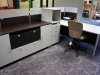 Group Lacasse - Concept 3 dual laminate workstation with two tone finish