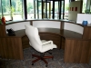 Groupe  Lacasse - Morpheo contemporary curved laminate reception station 535