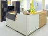 Groupe Lacasse - Quad series modern laminate reception station 536