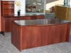 Indiana Furniture - Impel cherry finish wood veneer desk suite 625