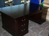 Indiana Furniture - Jefferson wood veneer traditional double pedestal executive desk in royal mahogany 540