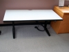 Spaceco - freestanding electric sit-or-stand height adjustable workstation laminate desk