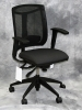 9 to Seating - Brio mesh back fabric seat task chair with black and gray fabric with adjustable arms #471