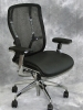 9 to 5 Seating - Vesta black mesh back task chair with black leather seat and chrome frame #473