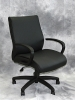 Boss - Black leather mid back task chair #475