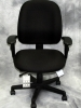 Eurotech - 4x4 black fabric multi-function work chair with seat slider #626